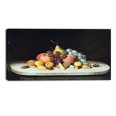 Designart – Toile imprimée de Robert Seldon Duncanson « Still Life with Fruits and Nuts » 3 panneaux (PT4900-32-16)