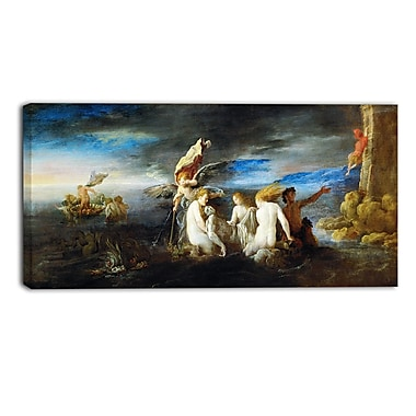 Designart Domenico Fetti, Hero Mourning the Dead Leander Canvas Art Print, (PT4301-32-16)