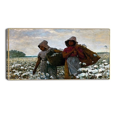 Designart Winslow Homer, The Cotton Pickers Canvas Art Print, 3 Panels, (PT5020-32-16)