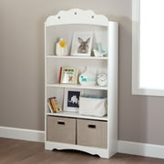 South Shore Tiara 4-Shelf Bookcase, Pure White , 11.5'' (L) x 30.75'' (D) x 58.25'' (H)