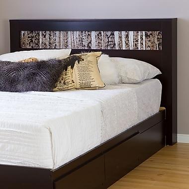 South Shore – Tête de lit Vito pour lits de 54/60 po, insertion bouleau, chocolat, 65,25 larg. x 5,25 prof. x 44 haut. (po)