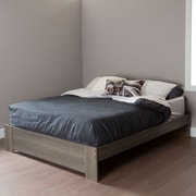 "South Shore Gloria Queen Platform Bed (60""), Grey Maple"