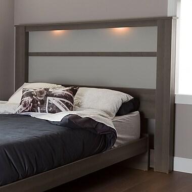 South Shore – Tête de lit pour très grand lit Gloria (78 po) avec lumières, érable gris, 79,75 larg. x 5,5 prof. x 61 haut. (po)
