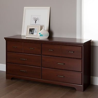 South Shore Versa 6-Drawer Double Dresser, Royal Cherry , 59.13'' (L) x 16.43'' (D) x 31.02'' (H)