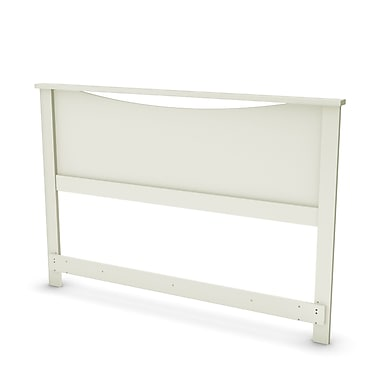South Shore – Tête de lit Step One pour grand lit (54/60 po), blanc pur, 64 larg. x 3 prof. x 46 haut. (po)