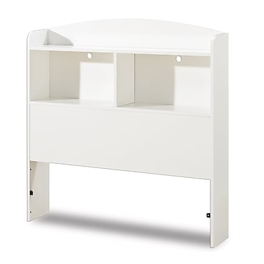 South Shore Logik Twin Bookcase Headboard (39''), Pure White , 41'' (L) x 7.5'' (D) x 41.75'' (H)