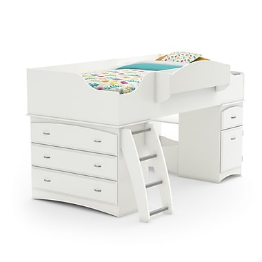 South Shore Imagine Twin Loft Bed, Pure White (3560A3)