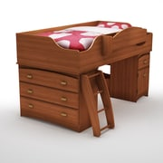 "South Shore Imagine Twin Loft Bed (39""), Morgan Cherry , 41'' (L) x 17'' (D) x 30.25'' (H)"