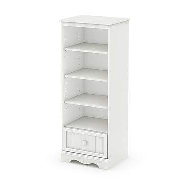 South Shore Savannah Shelving Unit with Drawer, Pure White