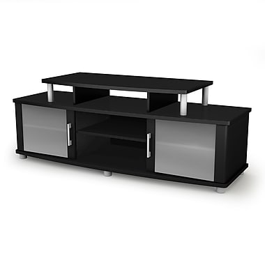 South Shore City Life TV Stand for TVs up to 50'', Pure Black , 59.25'' (L) x 19.5'' (D) x 22.25'' (H)