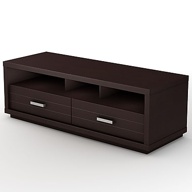South Shore Skyline TV Stand , Chocolate , 54'' (L) x 19.5'' (D) x 18'' (H)