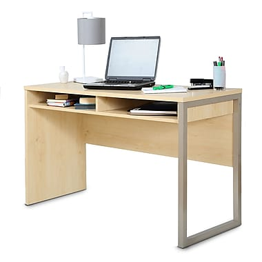 South Shore Interface Desk, Natural Maple , 47.5'' (L) x 19.5'' (D) x 29.5'' (H)