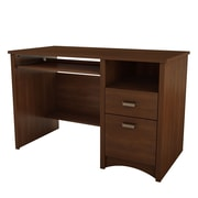 South Shore Gascony Desk, Sumptuous Cherry , 47.5'' (L) x 23.5'' (D) x 30.75'' (H)