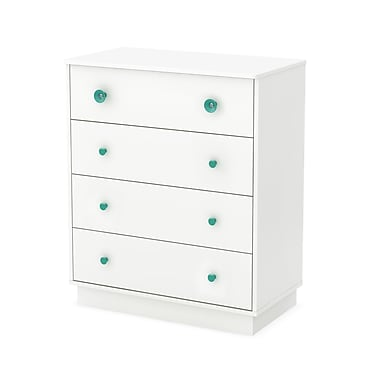 South Shore Little Monsters 4-Drawer Chest, Pure White , 31.5'' (L) x 17'' (D) x 37.75'' (H)