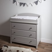 South Shore Cotton Candy Changing Table with Drawers, Soft Grey
