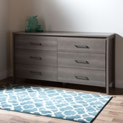 South Shore Gravity 6-Drawer Double Dresser, Grey Maple , 59.29'' (L) x 16.5'' (D) x 32.75'' (H)