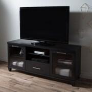 South Shore – Meuble télé Adrian pour les télés mesurant jusqu'à 60 po, chêne noir, 59,5 larg. x 17 prof. x 27,75 haut. (po)
