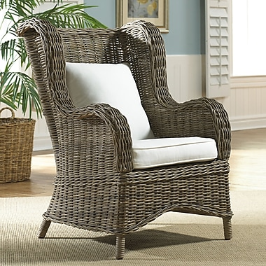 Panama Jack Sunroom Exuma Wing Back Chair; Blox Slate