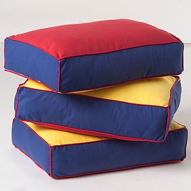 Maxtrix Kids Pillow Cover (Set of 3); Blue / Red / Hot Yellow