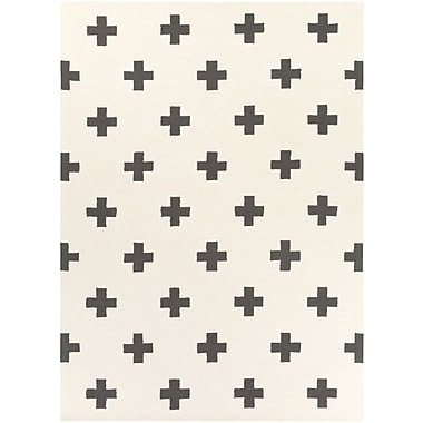 Artistic Weavers Hilda Monica Hand-Crafted White/Black Area Rug; Runner 2'3'' x 10'