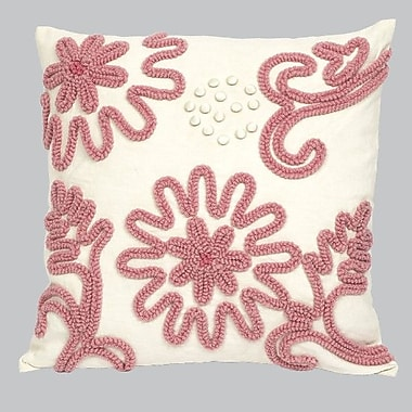 Jubilee Collection Chenille Throw Pillow; Pink