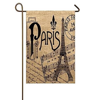 TheWatsonShop Paris Eiffel Tower Garden Flag