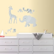 Room Mates Baby Safari Animals Peel and Stick Giant Wall Decal