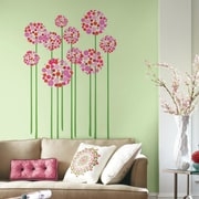 Room Mates Bright Floral Dot Peel and Stick Giant Wall Decal