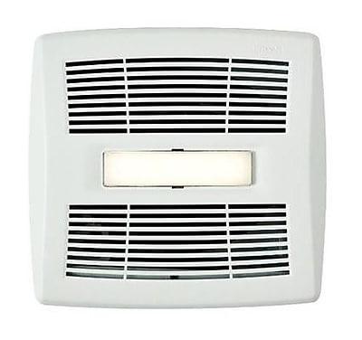 Broan InVent Single-Speed 110 CFM Energy Star Bathroom Fan w/ LED Light