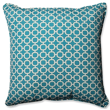 Pillow Perfect Hockley Outdoor/Indoor Throw Pillow; Teal