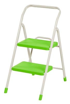 IRIS® USA, Inc. 2-Step Folding Step Stool, Green (260050)