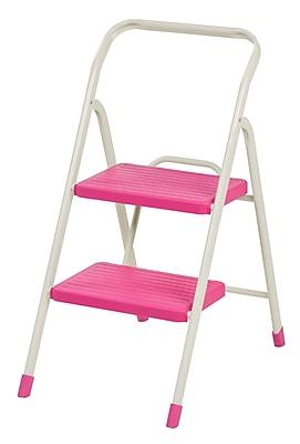IRIS® 2-Step Folding Step Stool, Pink (260051)