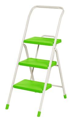 IRIS® USA, Inc. 3-Step Folding Step Stool, Green (260061)