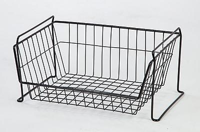 IRIS® Large Stacking Basket, Black (261012)