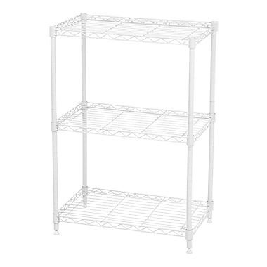 IRIS® Large 3-Tier Wire Shelf, White (260470)