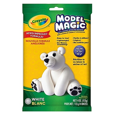 Crayola® - Pâte à modeler Model Magic, sachets de 113 g, blanc, paq./12