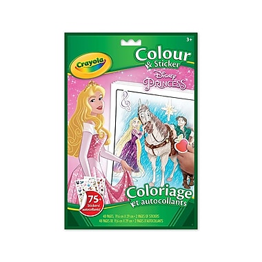 Crayola® Colour 'n Sticker Book, Princess, 12/Pack