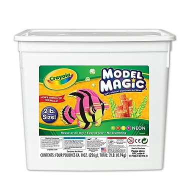 Crayola® Model Magic® Bucket, Neon, 2 LB