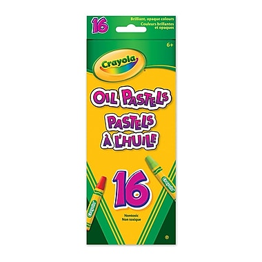 Crayola® Oil Pastels, Assorted Colours, 16/Pack