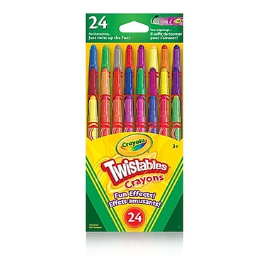 Crayola® Fun Effects Mini Twistable crayons, Assorted Colours, 24 per Sleeve, 12/Pack