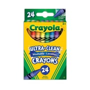 Crayola® Washable crayons, Assorted Colours, 24 per Box, 12/Pack