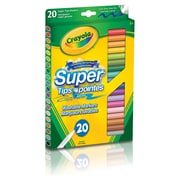 Crayola® Super Tips Washable Markers, Assorted Colours, 20 per Sleeve, 12/Pack