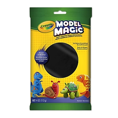 Crayola® - Pâte à modeler Model Magic, sachets de 113 g, noir, paq./12
