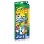 Crayola® Washable Pip-Squeaks Markers, Broad Line, 16 count Sleeves, 12/Pack