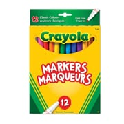 Crayola® 12-Piece Fine Line Classic Colour Markers, 12/Pack