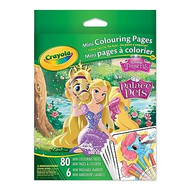 Crayola® - Mini pages à colorier, Les Princesses, paq./12