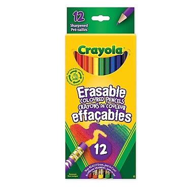 Crayola® Erasable Coloured Pencils, 12/Pack