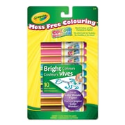 Crayola® Color Wonder Mini Markers, Bright Colours, 10 per Box, 12/Pack