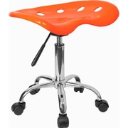 "Flash Furniture 25.75"" Vibrant Tractor Stool, Orange Yellow (LF214AORANYELL)"