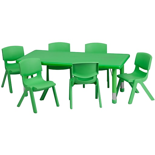 Flash Furniture Rectangle Activity Table, Green (YCX13RECTBLGNE)